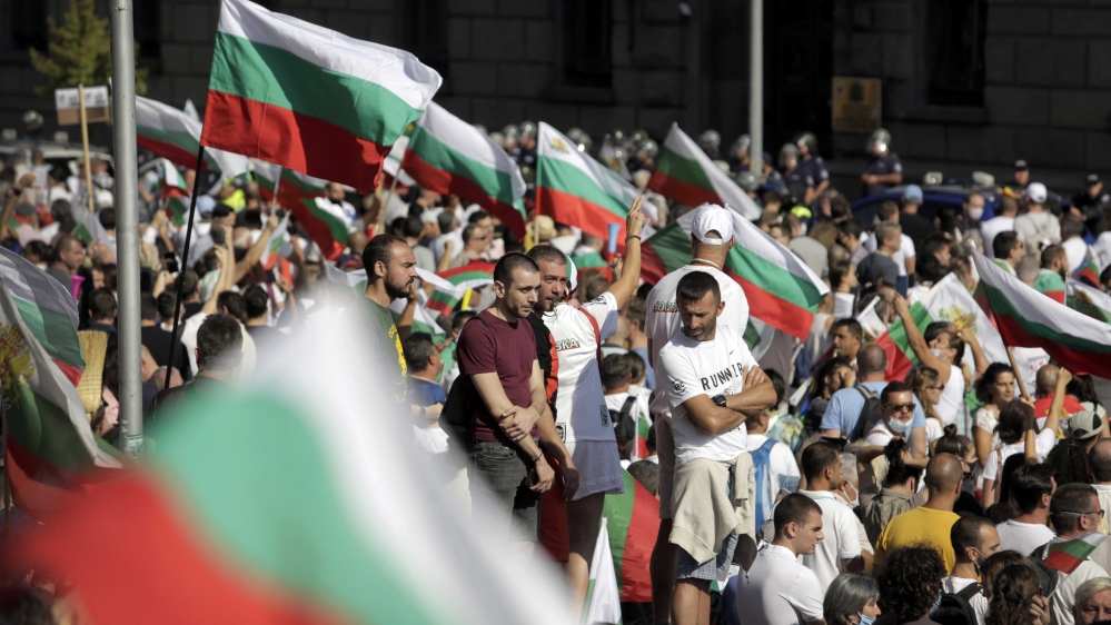 What is happening with the Bulgarian protest movement?