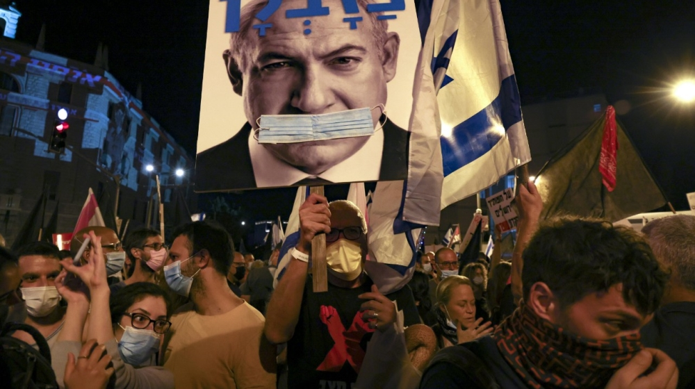 Anti-Netanyahu protesters keep up pressure on Israeli leader