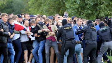 Belarus police detain 250 protesters in Minsk as crowds swell