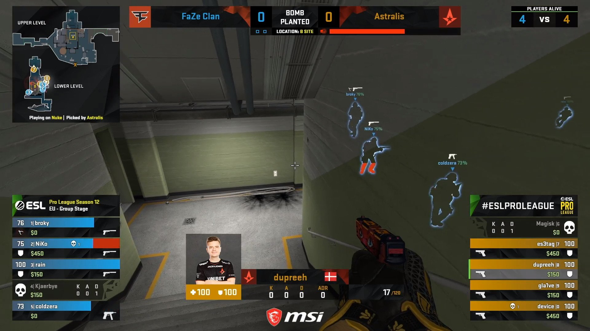 CS:GO – FaZe Versus Astralis For ESL Pro League Shows A Bit More Competence