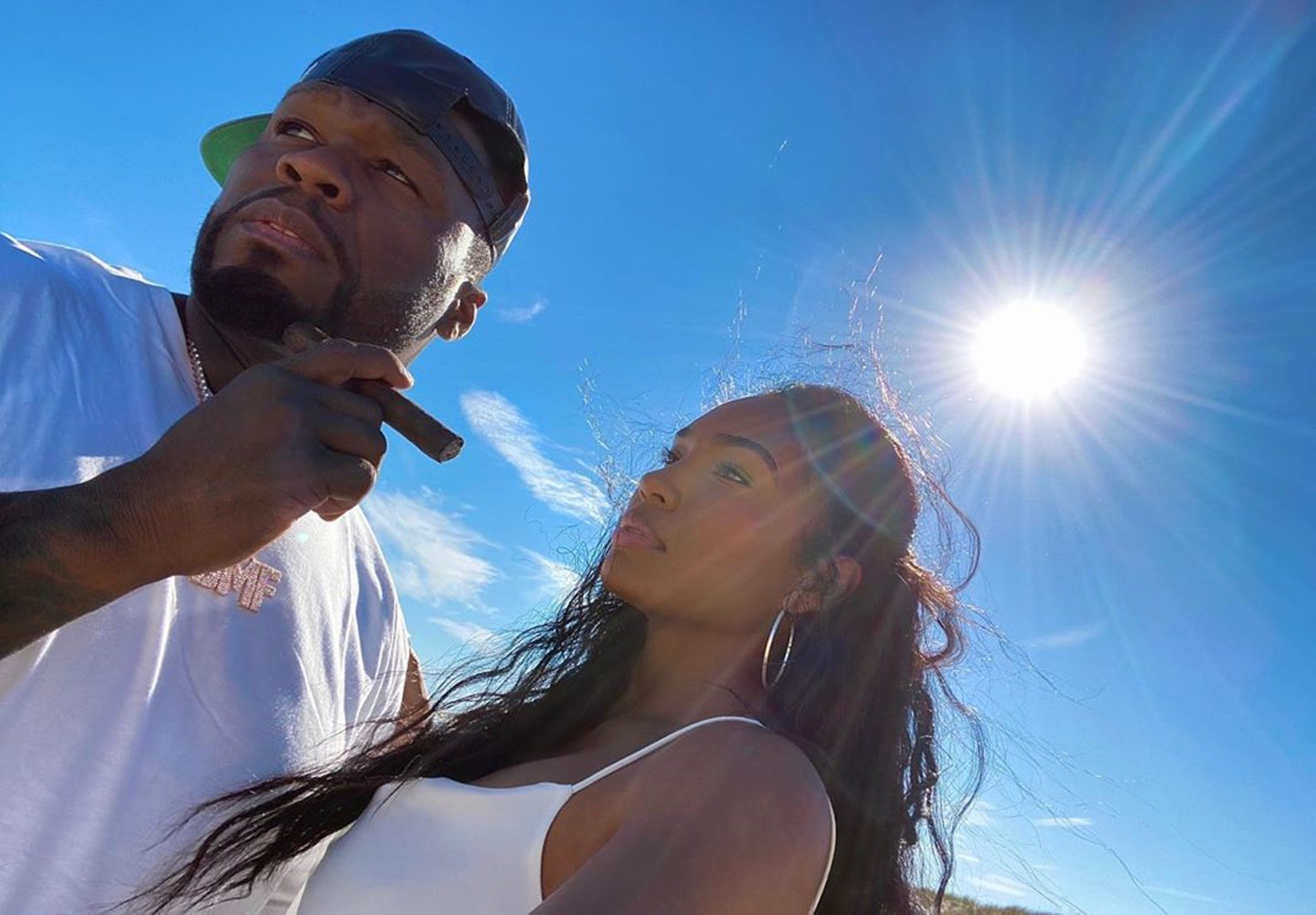 "50 Cent And Girlfriend Jamira ""Cuban Link"" Haines Get All Cute In New Videos — Some Fans Are Still Not Ready To Give The 'Power' Producer A Pass"