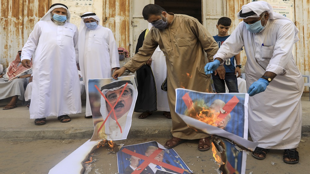 Palestinians rally against Bahrain-Israel normalisation