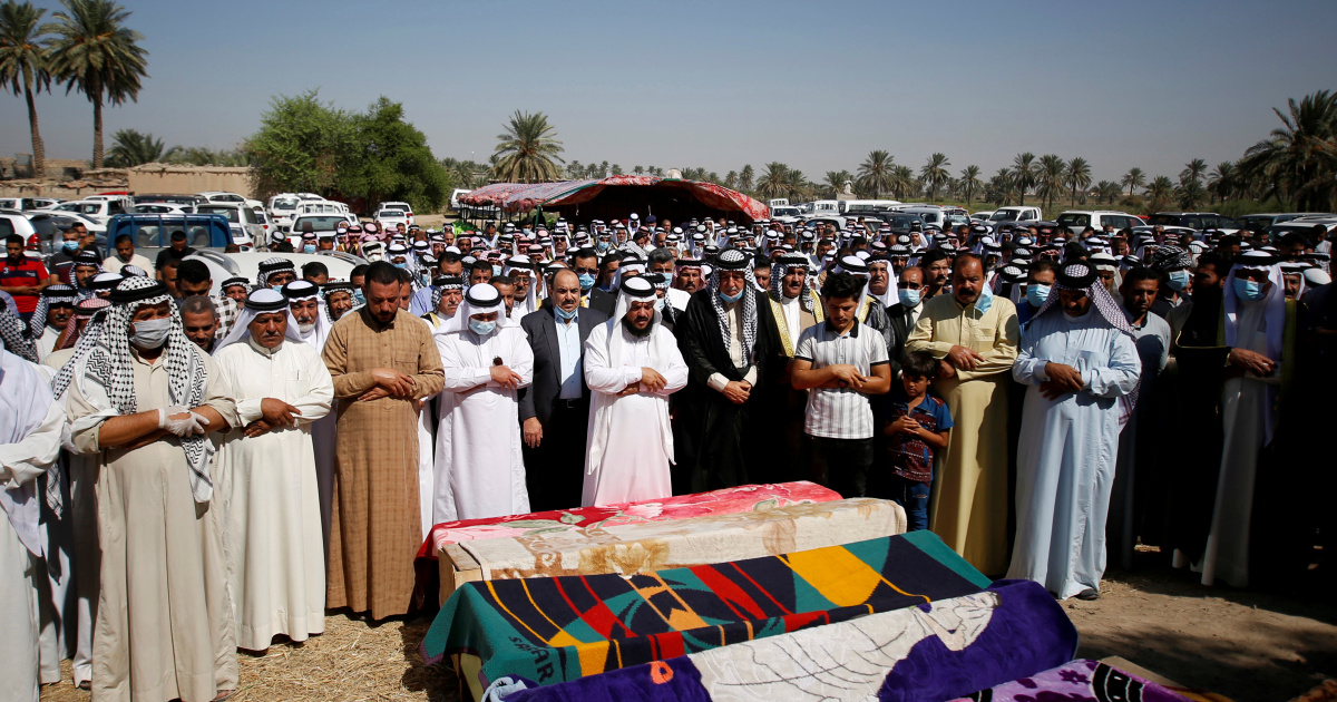 Iraqis hit out at insecurity as seven buried after anti-US attack