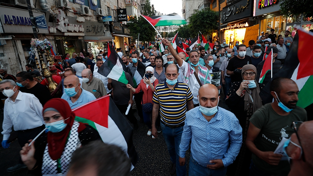 Palestinians protest Arab normalisation deals with Israel
