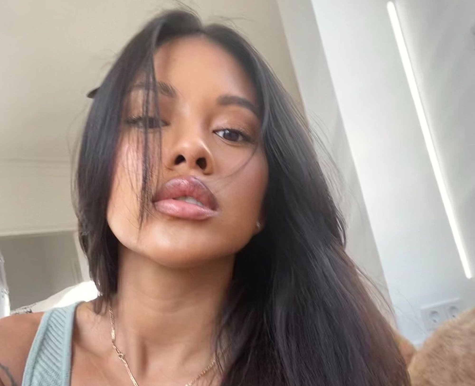 Chris Brown's Baby Mama, Ammika Harris, Reveals The Secret Behind Her Perfect Photos After Getting Some Good News Involving Rihanna