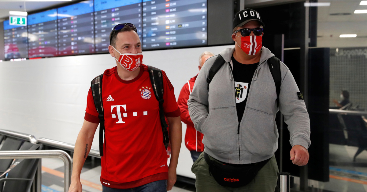 UEFA Super Cup: Fans arrive in Budapest for COVID-19 'pilot' game