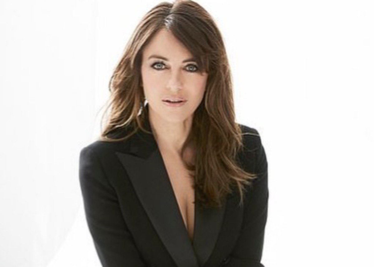 Elizabeth Hurley Poses In A Sweater Without Pants