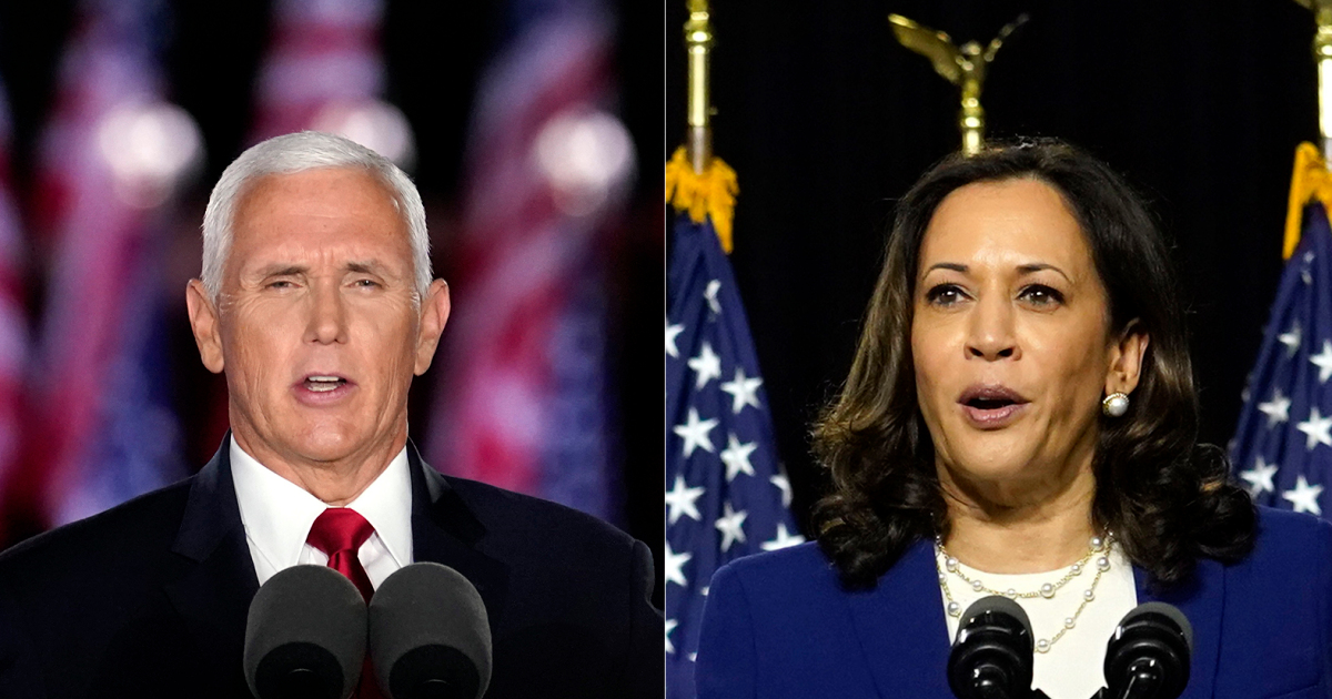 Pence-Harris meet for United States VP debate: Live news