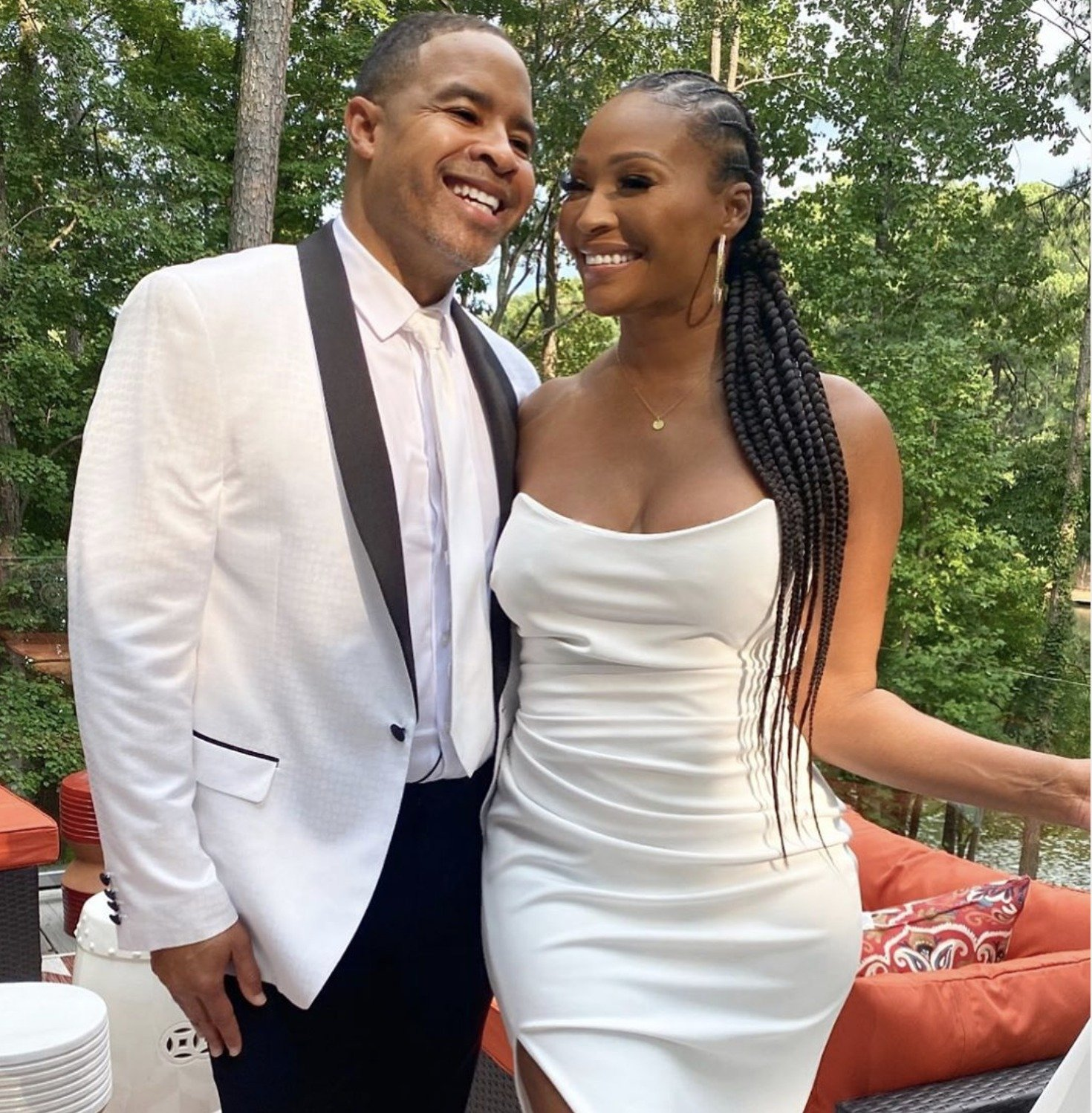 Cynthia Bailey And Mike Hill's Wedding Video In Which He's Crawling On The Dancefloor Has Fans Laughing Their Hearts Out