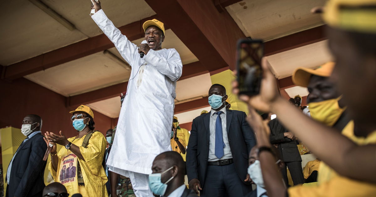 President Conde seeks third term as Guinea goes to the polls