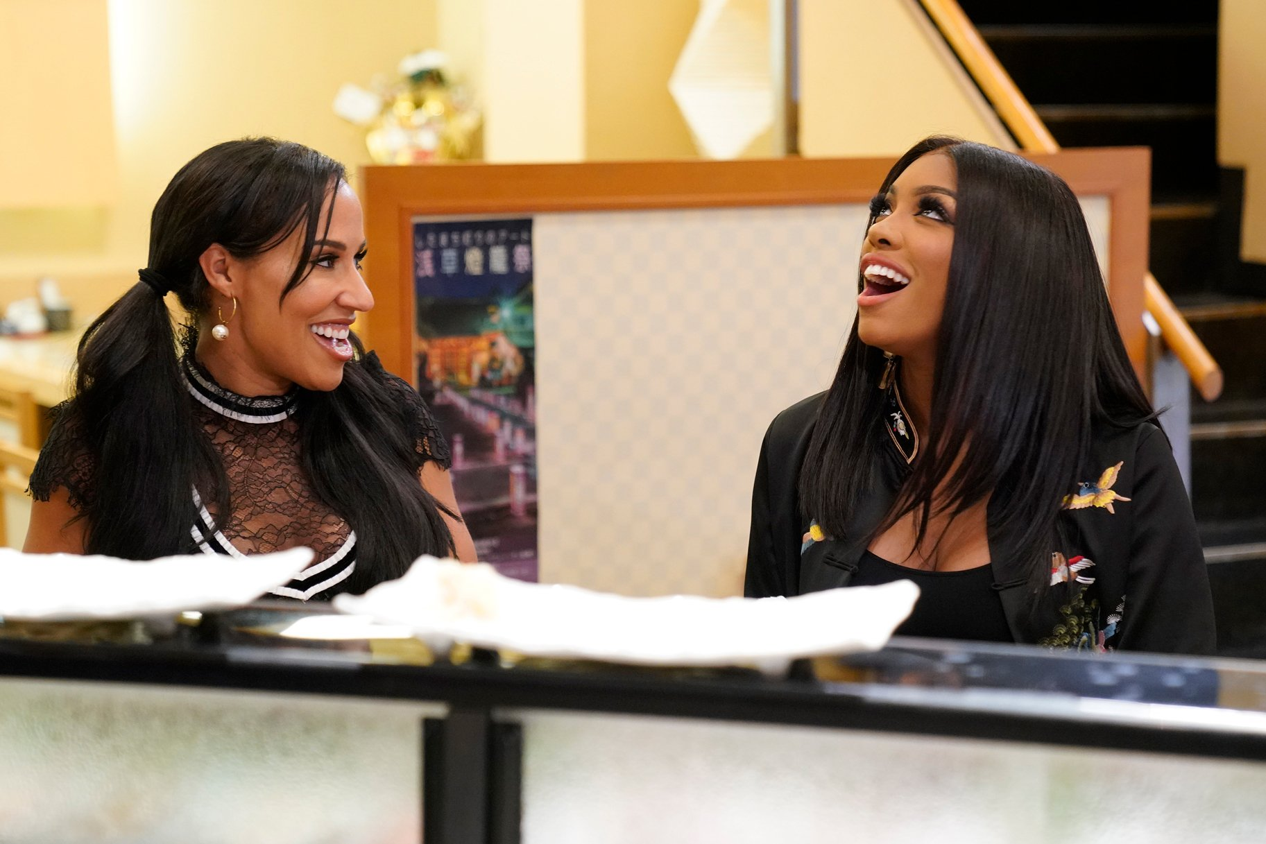 Porsha Williams And Tanya Sam Allegedly Hook Up With Stripper At Cynthia Bailey's Bachelorette Party!